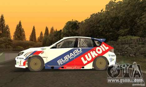 Subaru Impreza WRX STi Russia Rally for GTA San Andreas left view