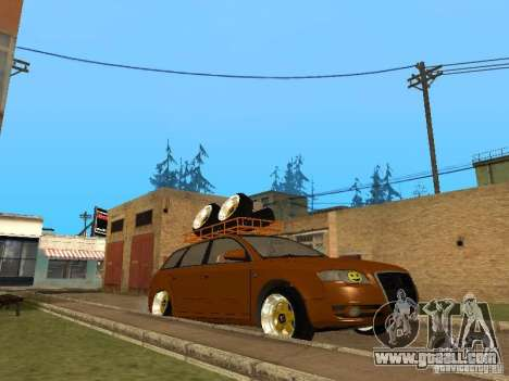 Audi A4 Avant 2005 JDM Style for GTA San Andreas back left view