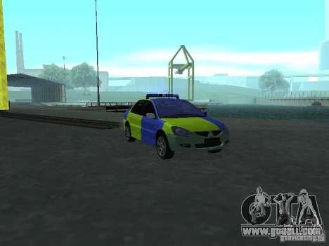 Mitsubishi Lancer Police for GTA San Andreas