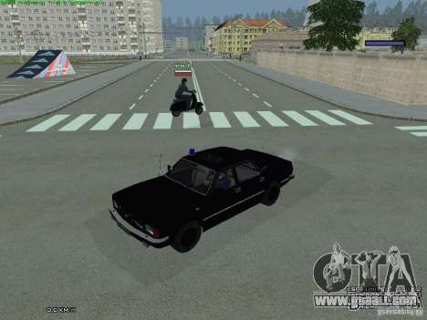 Volga FEDERAL for GTA San Andreas back left view
