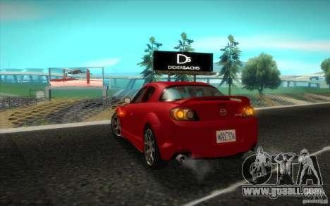Mazda RX-8 R3 2011 for GTA San Andreas right view