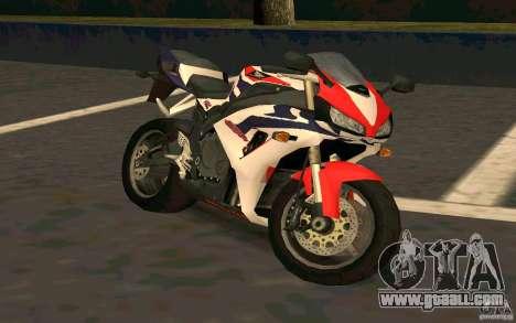Honda Fireblade 1000RR for GTA San Andreas back view