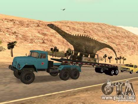 Dinosaur Trailer for GTA San Andreas back view