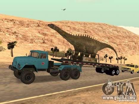 Dinosaur Trailer for GTA San Andreas back view