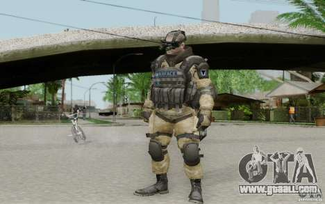 An engineer from Warface for GTA San Andreas