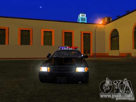 Ford Crown Victoria San Andreas State Patrol for GTA San Andreas side view