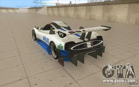 Pagani Zonda Racing Edit for GTA San Andreas back left view