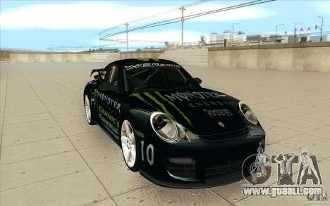Porsche 997 Rally Edition for GTA San Andreas back view