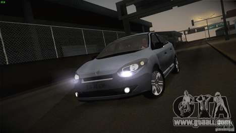 Renault Fluence for GTA San Andreas side view