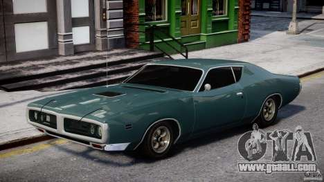 Dodge Charger RT 1971 v1.0 for GTA 4 back view