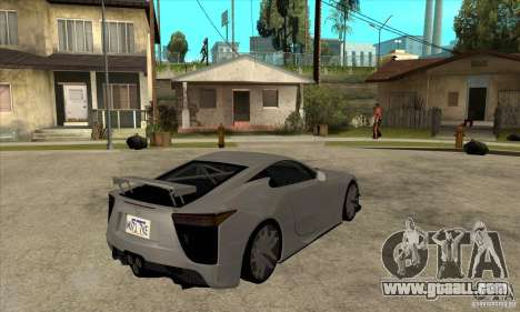 Lexus LFA 2010 for GTA San Andreas right view