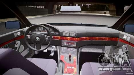 BMW 530I E39 e63 white wheels for GTA 4 back view