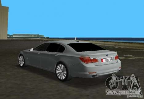 BMW 750 Li for GTA Vice City back left view