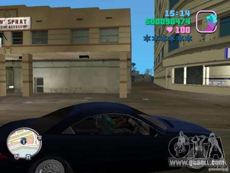 Mercedes-Benz E350 for GTA Vice City left view