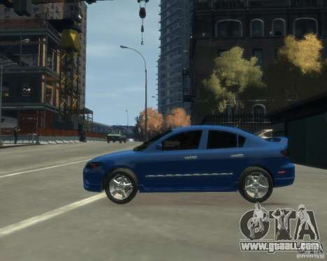 Mazda 3 sedan 2008 for GTA 4 left view