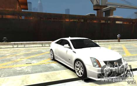 Cadillac CTS-V Coupe 2011 v.2.0 for GTA 4 back view