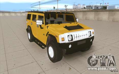 Hummer H2 for GTA San Andreas back view