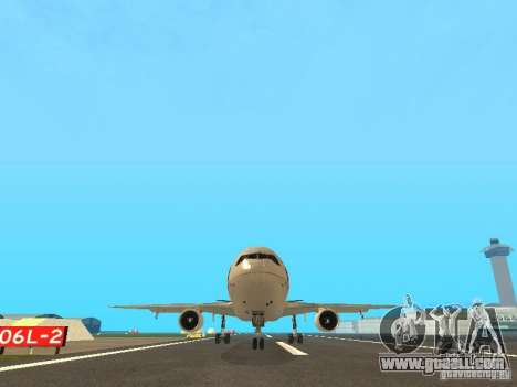 McDonell Douglas  DC 10 Thai Airways for GTA San Andreas back view