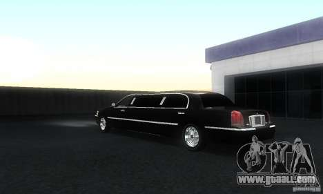 Lincoln Towncar limo 2003 for GTA San Andreas back left view