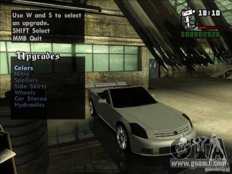Cadillac XLR for GTA San Andreas back view