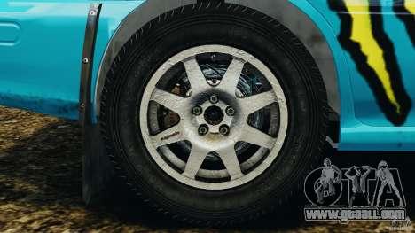 Subaru Impreza WRX STI 1995 Rally version for GTA 4 inner view