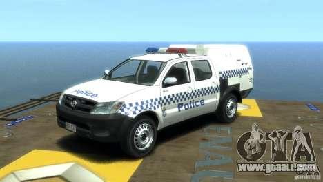 Toyota Hilux Australian Police ELS for GTA 4