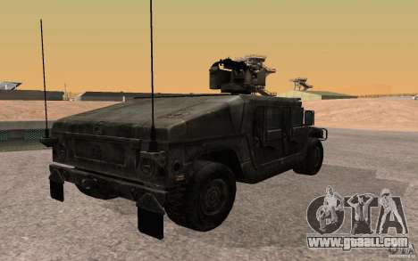 Hummer H1 from Battlefield 3 for GTA San Andreas left view