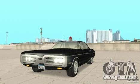 Plymouth Fury III Police for GTA San Andreas