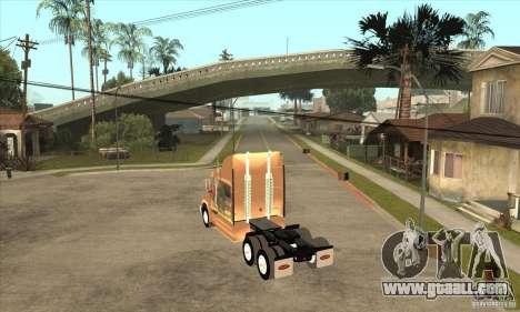 Peterbilt 387 skin 3 for GTA San Andreas right view