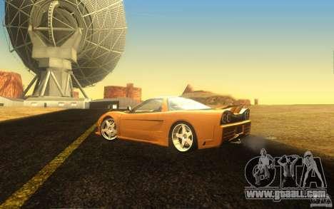 Honda NSX VeilSide Fortune for GTA San Andreas inner view