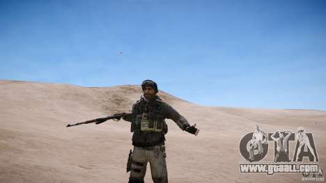 Captain Price from COD MW3 for GTA 4 sixth screenshot