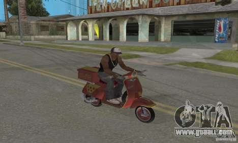 Vespa N-50 Pizzaboy for GTA San Andreas back view