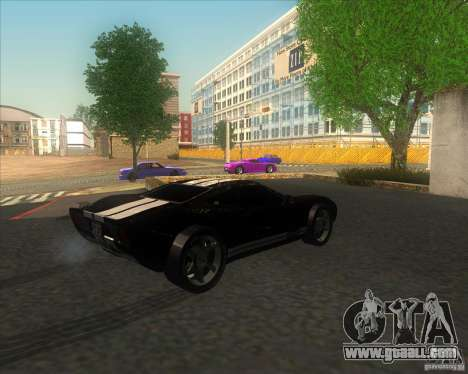 Ford GT stock for GTA San Andreas left view