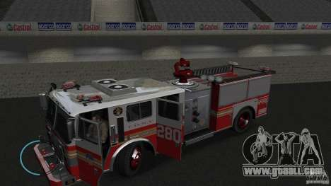 NEW Fire Truck for GTA 4 left view