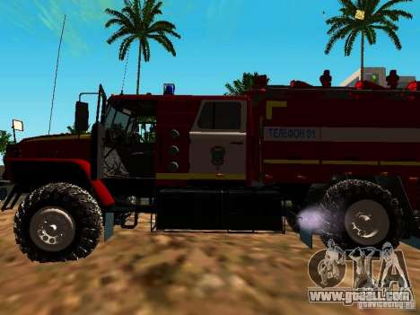 Ural 5557-40 fire for GTA San Andreas back view