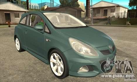 Vauxhall Corsa VXR for GTA San Andreas inner view
