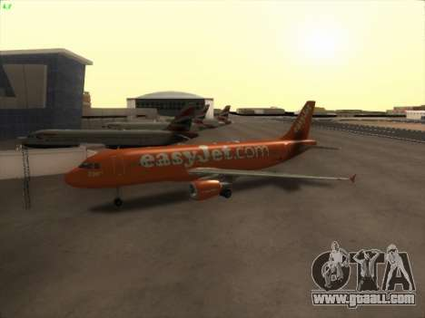 Airbus A320-214 EasyJet 200th Plane for GTA San Andreas left view