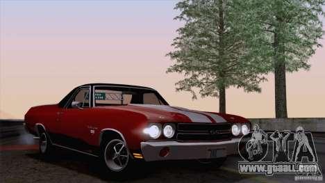 Chevrolet El Camino SS 70 Fixed Version for GTA San Andreas back left view