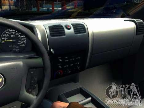 Chevrolet Colorado 2003 for GTA San Andreas side view