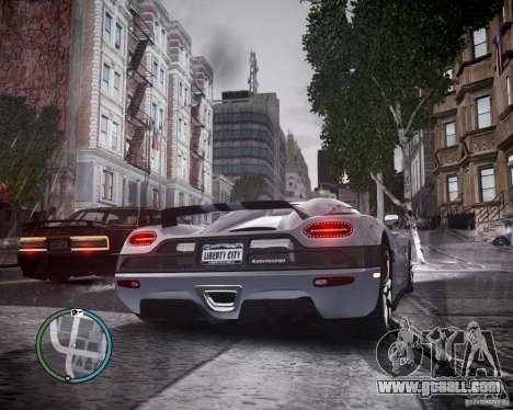 Koenigsegg Agera for GTA 4 right view