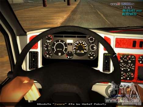 Kenworth T2000 v 2.5 for GTA San Andreas interior