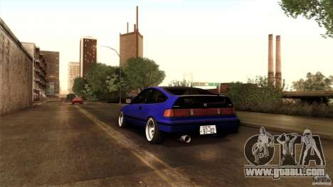 Honda CRX JDM for GTA San Andreas upper view