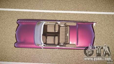Cadillac Eldorado 1959 interior black for GTA 4 back view