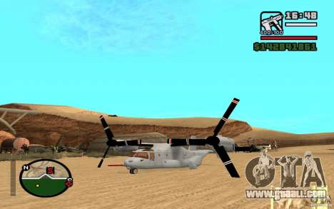 Bell V-22 Osprey for GTA San Andreas right view