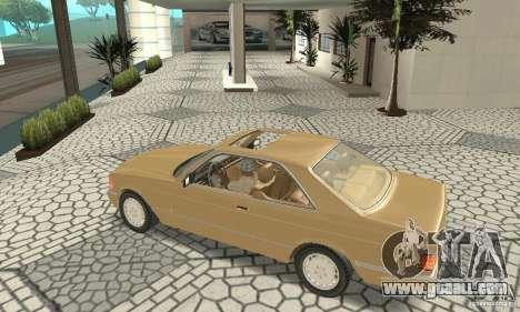 Mercedes-Benz W126 560SEC for GTA San Andreas back view
