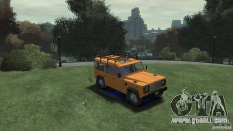 Land Rover Defender Station Wagon 110 for GTA 4 right view