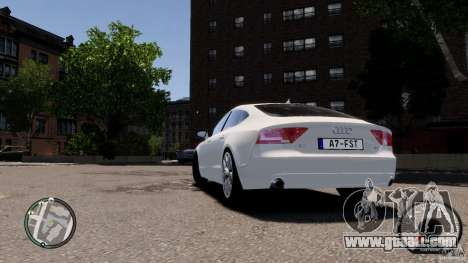 Audi A7 Sportback for GTA 4 right view