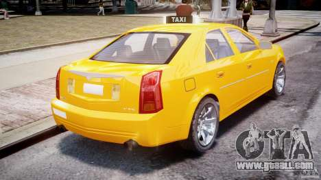Cadillac CTS Taxi for GTA 4 back left view