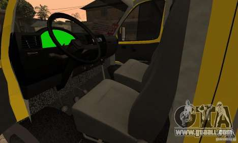 Gazelle 32213 Novosibirsk minibus for GTA San Andreas inner view