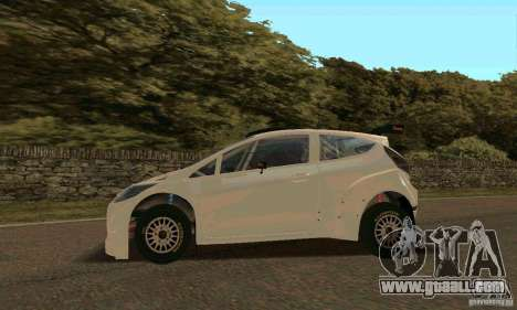 Ford Fiesta Rally for GTA San Andreas interior